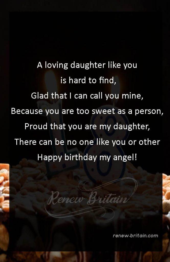 18th Birthday Poem For Daughter