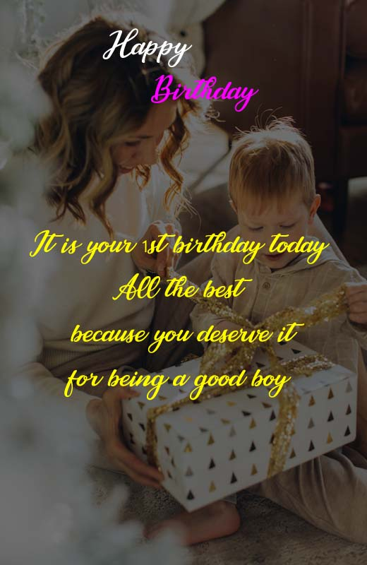 1st Birthday Quotes For Baby Boy From Mother
