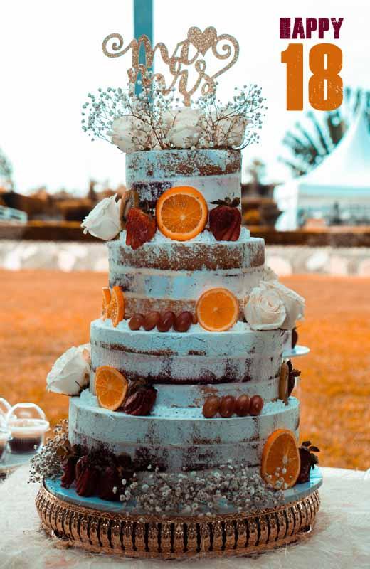 Birthday Cake for 18th Birthday Girl