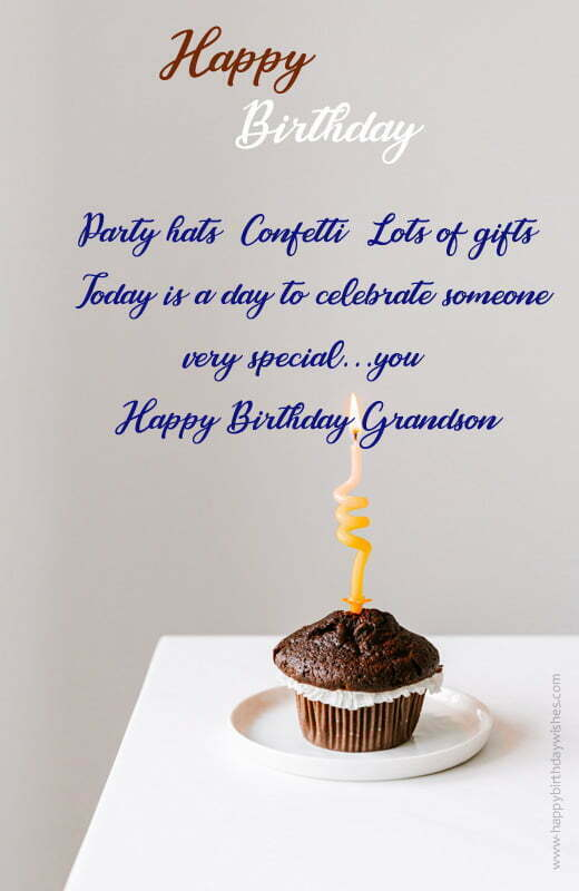 Birthday Quotes for Grandson From Grandparents