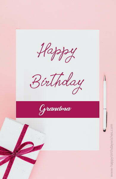 Birthday Wishes for Grandmother From Granddaughter