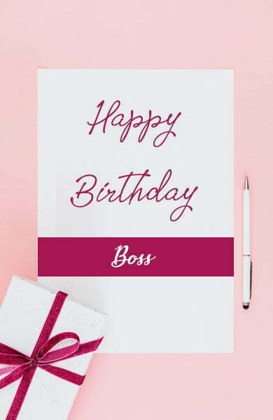 Heart Touching Birthday Wishes for Boss