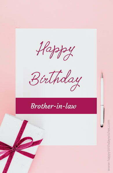 Heart Touching Birthday Wishes for Brother-In-Law