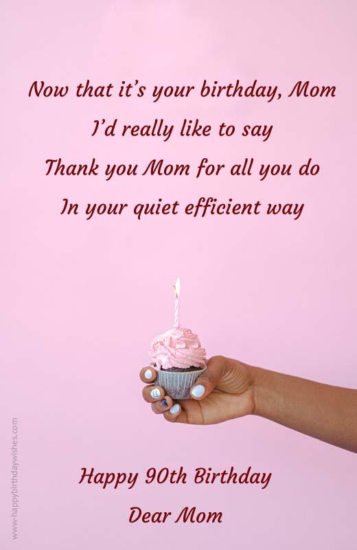 90th Birthday Poems for Mom